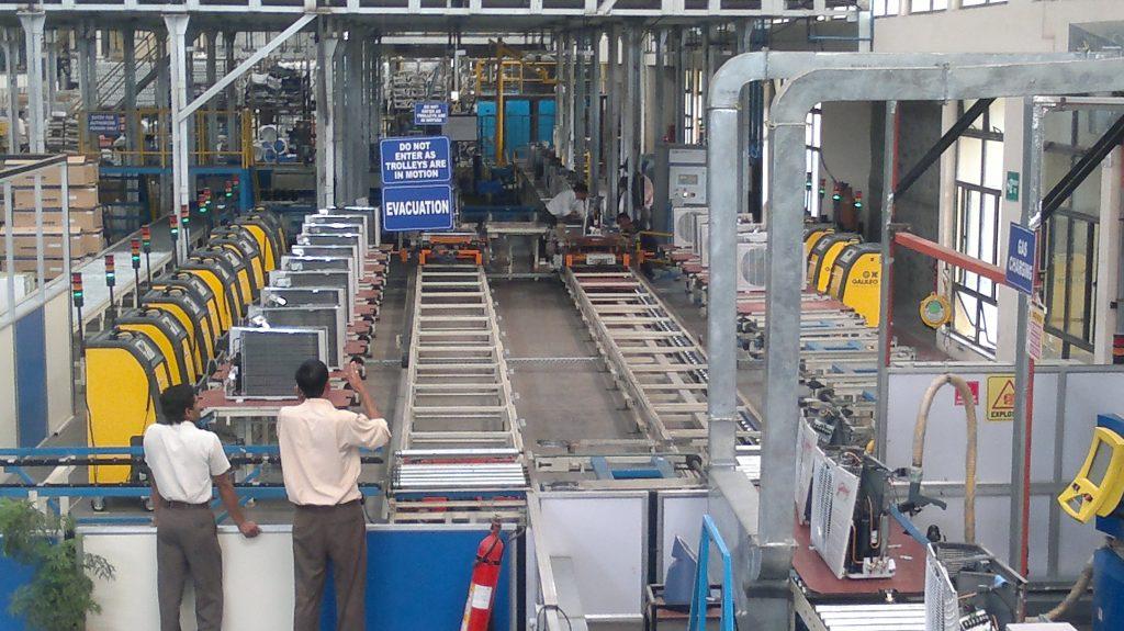 AC assembly, Assembly line, assembly line balancing, assembly line production, robotic assembly, assembly automation, assembly conveyor, automated assembly line