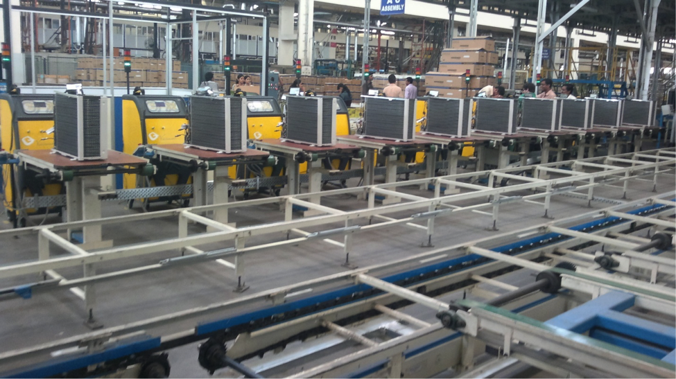 AC Assembly Line, Assembly line, assembly line balancing, assembly line production, robotic assembly, assembly automation, assembly conveyor, automated assembly line
