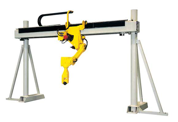 gantry robot, overhead gantry, machine shop handing system, pick and place robot, parts handling, pick and place system